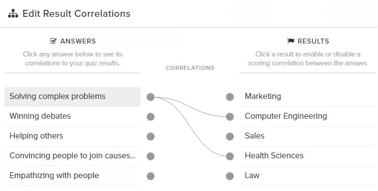 interact quiz correlations